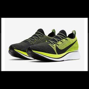 Nike Zoom Fly Flyknit Volt/Black-White Men's 12